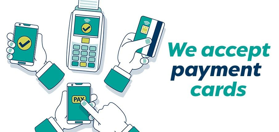We accept payment cards